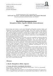 Rechtfertigungsmuster - Fachbereich Rechtswissenschaft der ...