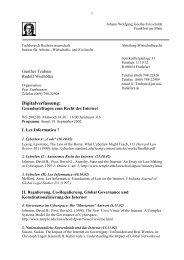 Digitalverfassung: - Fachbereich Rechtswissenschaft der Goethe ...