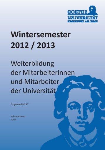 Innerbetriebliche Weiterbildung - Fachbereich Rechtswissenschaft ...