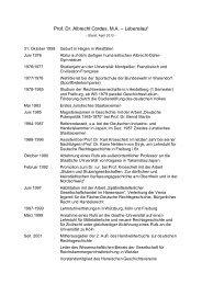 Lebenslauf - Fachbereich Rechtswissenschaft der Goethe ...