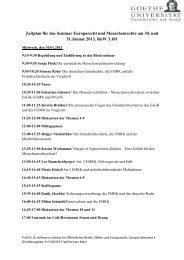 Zeitplan für das Seminar Europarecht und Menschenrechte am 30 ...