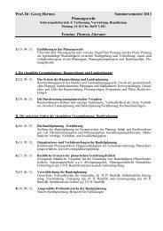 Planungsrecht SS 13 Termine Themen
