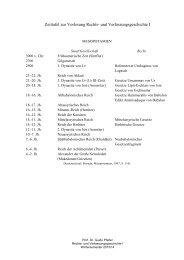 Zeittafel zur Vorlesung Rechts- und Verfassungsgeschichte I