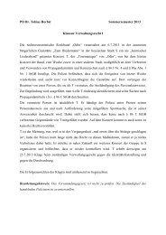 PD Dr. Tobias Herbst Sommersemester 2013 Klausur ...