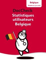 Statistiques utilisateurs Belgique