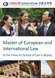 Master of European and International Law