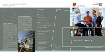 ENTSCHEIDUNG: JURASTUDIUM - Fakultät für Rechtswissenschaft ...
