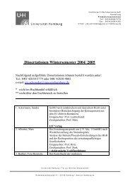 Dissertationen Wintersemester 2004/ 2005 - Universität Hamburg
