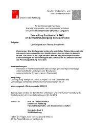 HOCHSCHULE FÜR WIRTSCHAFT UND POLITIK - Fachbereich ...
