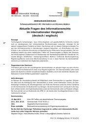 Aktuelle Fragen des Informationsrechts im internationalen Vergleich ...