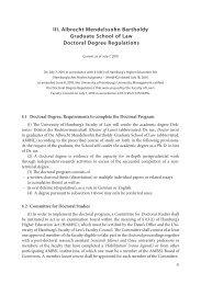 iii. albrecht Mendelssohn bartholdy graduate school of Law doctoral ...