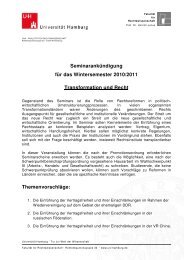 Seminarankündigung für das Wintersemester 2010/2011 ...