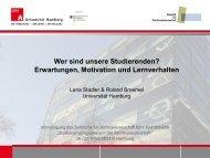 Wer sind unsere Studierenden? - Universität Hamburg