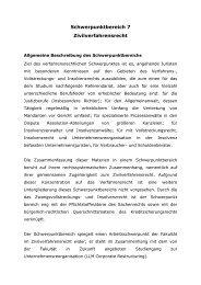 Schwerpunktbereich 7 - Zivilverfahrensrecht - Juristische Fakultät