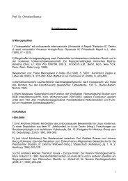 Schriftenverzeichnis - Juristische Fakultät