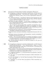 Prof. Dr. iur. Christian Hattenhauer Schriftenverzeichnis 2011 ...