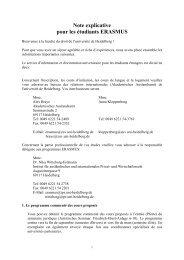 Note explicative pour les étudiants ERASMUS