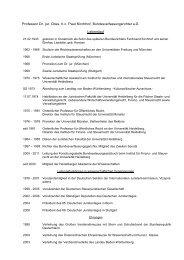 Lebenslauf von Prof. Dr. Dres. h.c. Paul Kirchhof - Juristische Fakultät