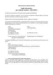 Foglio informativo per studenti stranieri – ERASMUS