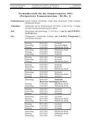 Zeitplan... - Juristische Fakultät