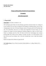 Prof. Dr. M. Fischer WS 2011/2012 Übung im Bürgerlichen Recht für ...
