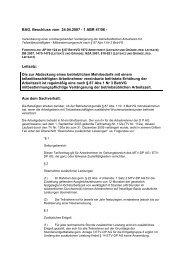 Mitbestimmungsrecht nach § 87 Abs 1 Nr 3