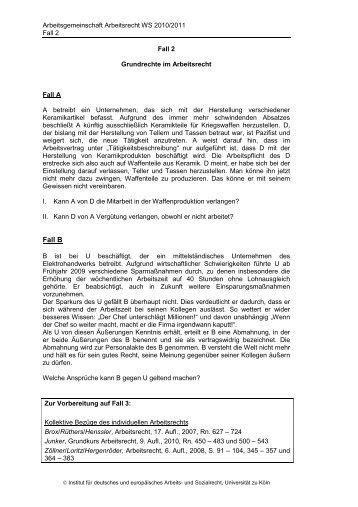 Schema Kã¼ndigungsschutzklage