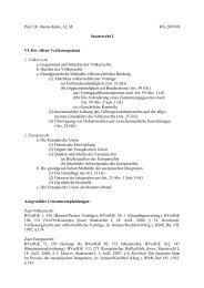 Gliederung, Literatur und Fragen VI