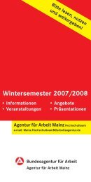 Wintersemester 2007/2008 - Johannes Gutenberg-Universität Mainz