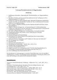 Prof. Dr. Volker Erb Sommersemester 2009 Vorlesung ...