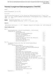 Verwaltungsverfahrensgesetz(VwVfG)
