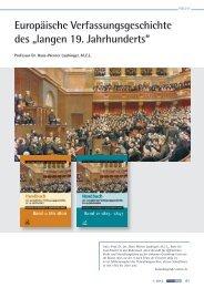 Europäische Verfassungsgeschichte des - Fachbereich ...
