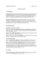 Prof. Dr. iur. Volker Erb 31. Oktober 2013 Schriftenverzeichnis I ...
