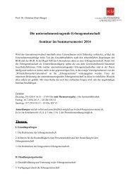 Die unternehmenstragende Erbengemeinschaft Seminar im ...