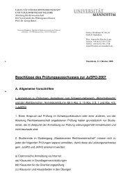 Allgemeines - Jura - Universität Mannheim