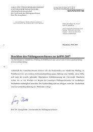 Nachmeldung zur mündlichen Prüfung im Wahlbereich der ...