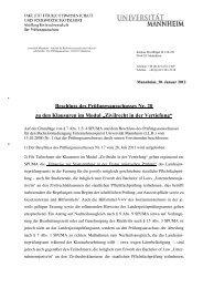 Zivilrecht in der Vertiefung - Jura - Universität Mannheim