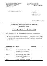Aufgabendelegation - Jura - Universität Mannheim