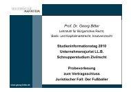 Probevorlesung - Jura - Universität Mannheim