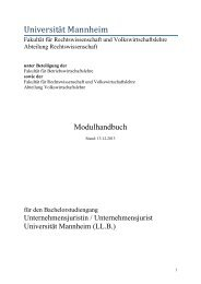 Modulhandbuch - Jura - Universität Mannheim