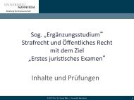 Päsentation - Jura - Universität Mannheim