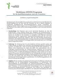 Richtlinien gleichstellung 2020 - Jura - Universität Mannheim