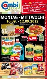 MONtag - MIttWOCH! 10.09. - 12.09.2012 - Combi