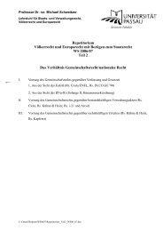 Repetitorium Völkerrecht und Europarecht mit Bezügen zum ...