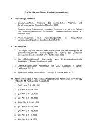 Prof. Dr. Hartmut Söhn – Publikationsverzeichnis I. Selbständige ...