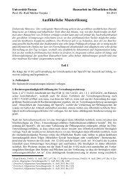 Musterlösung Hausarbeit SS 2013 - Universität Passau