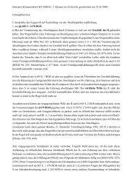 Semester-Klausurenkurs WS 2000/01, 3. Klausur im Zivilrecht ...