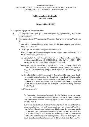 Lösungsskizze Fall 15 - Teil 1