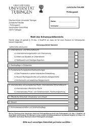 Anzeige der Wahl des Schwerpunktbereichs - Juristische Fakultät ...