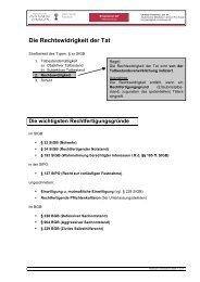 14_StrafR_AT - Rechtswidrigkeit und Rechtfertigungsgründe